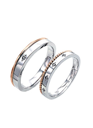 [14K Gold]스위티 피 커플링Sweet pea Couple ring j4870
