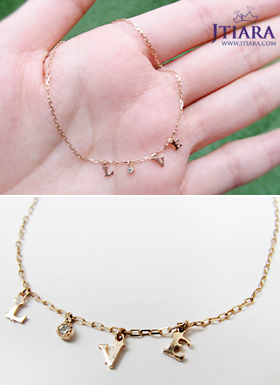 [14K Gold] 세이 유 러브 미 팔찌 Say U Love Me Braclet no.09