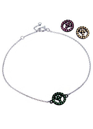 [Silver Line] 컬러풀 피스 팔찌 Colorful Peace Bracelet no.289