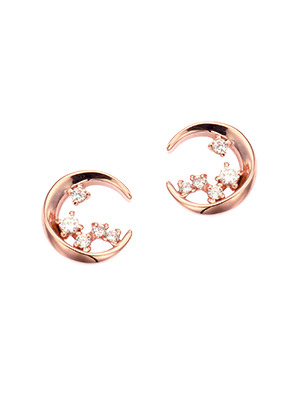 [14K Gold] 문 리버 귀걸이 Moon River Earring no.j3705