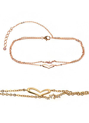 [14K Gold ] 하트 로맨틱 팔찌 Heart Romantic Bracelet no.j2825