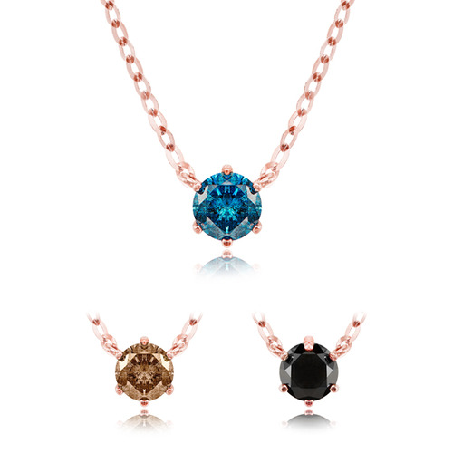 14K 1부 리얼 다이아 베이직 목걸이 0.1ct Real DIA BASIC Necklace