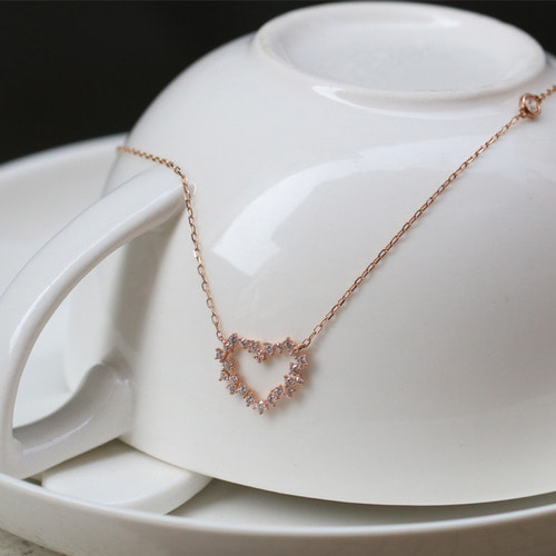 14K 하트 버블 목걸이 14K Heart Bubble Necklace