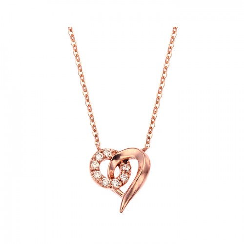 [14K Gold]링코 하트 목걸이Linko heart necklace j3823