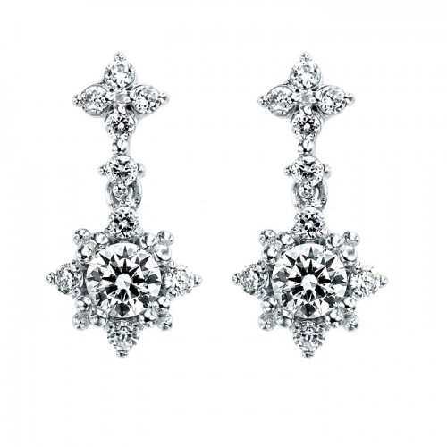 [14K Gold]프로즌 스노우 귀걸이Frozen snow earrings j3260