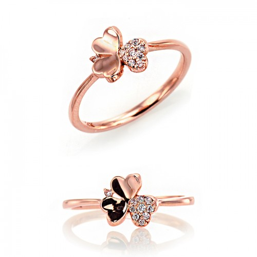 [14K Gold]클로버 드림 반지Clover dream ring j3706