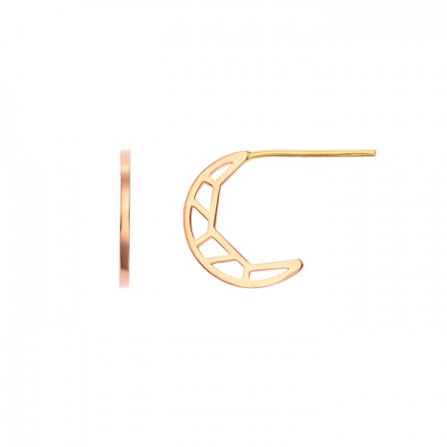[14K Gold]골드 문 귀걸이Gold moon Earring j3820