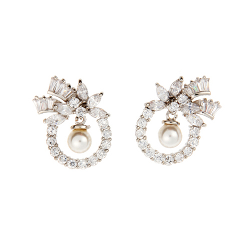 (Silver)셀리 이어링 Sally Pierced Earrings