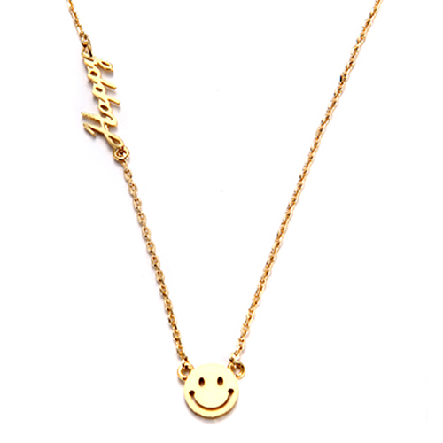 [14K Gold][보스를지켜라 협찬] 해피 스마일 어게인 목걸이 Happy Smile Again Necklace