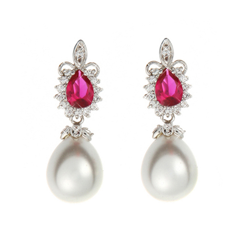 (Silver)세라 루비ZC 이어링Sara Ruby ZC Pierced Earrings