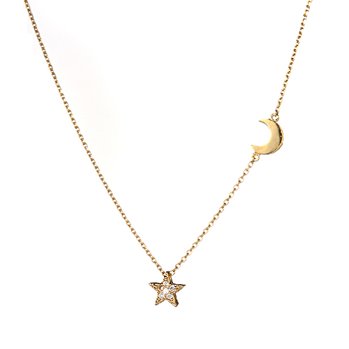 [14K Gold] 미트 더 문 목걸이 Meet the Moon Necklace no.26