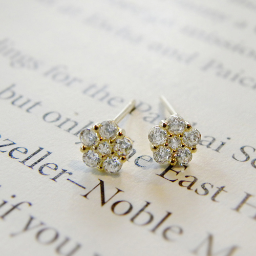 [14K Gold] 플랫 플라워 귀걸이 Flat Flower Earrings no.49