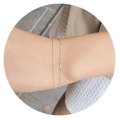 [14K Gold] 더 클래식 브레슬렛 The Classic Bracelet no.19