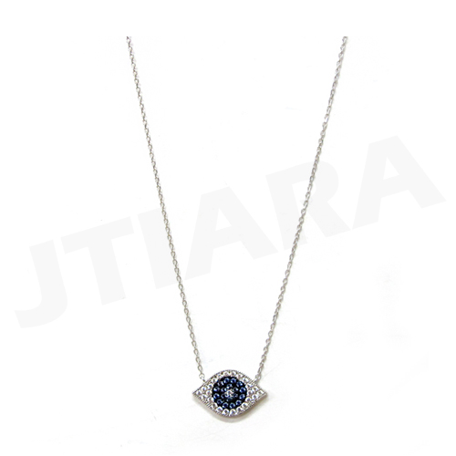 [925 Silver Line] 이블 아이 목걸이 Evil Eye Necklace no.1043