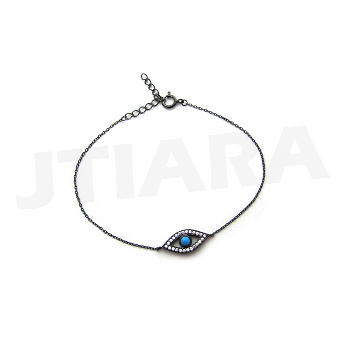 [925 Silver Line] 블루 이블 아이 팔찌 Blue Evil Eye Blacelet no.300