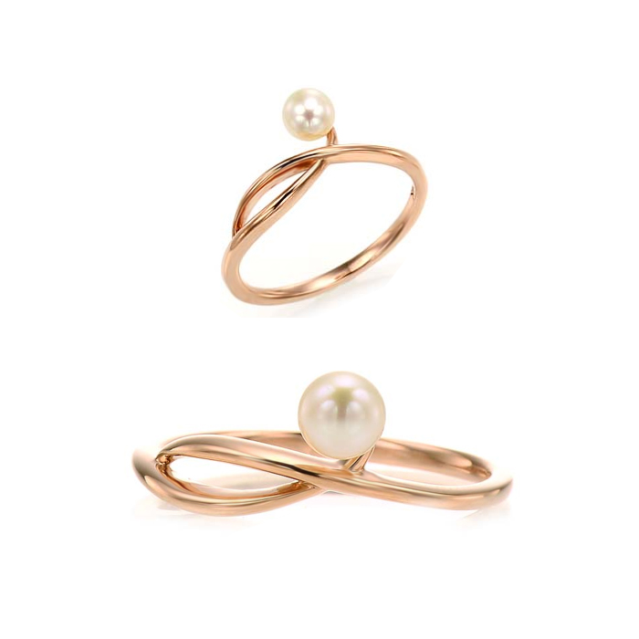[14K Gold] 더블 웨이브 반지 Double Wave Ring no. j3830