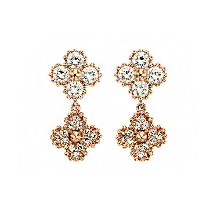 [14K Gold] 럭키 플라워 귀걸이 Lucky Flower Earring no. j3291