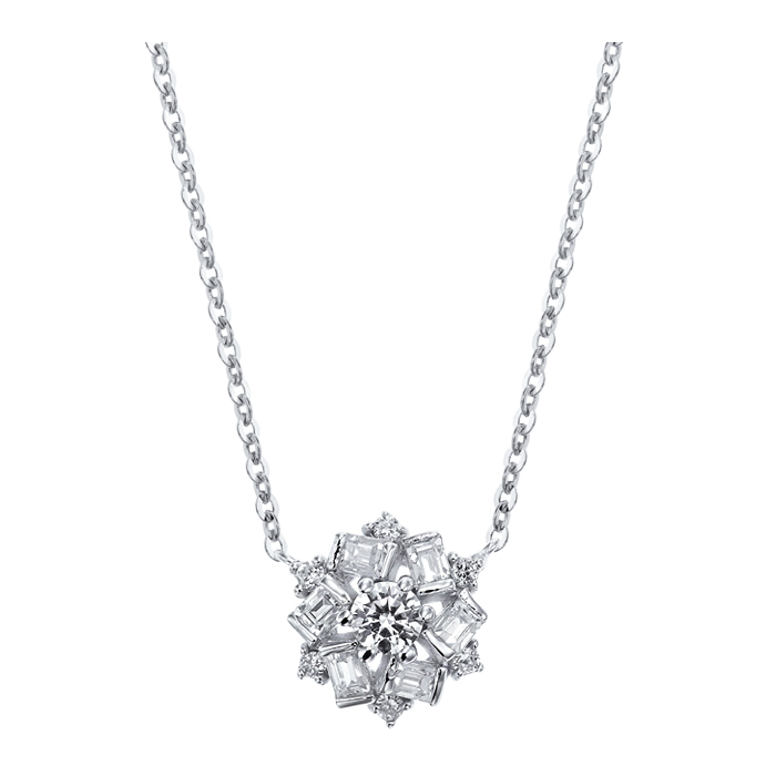 [14K Gold] 윈터 플라워 목걸이 Winter Flower Necklace no. j3650