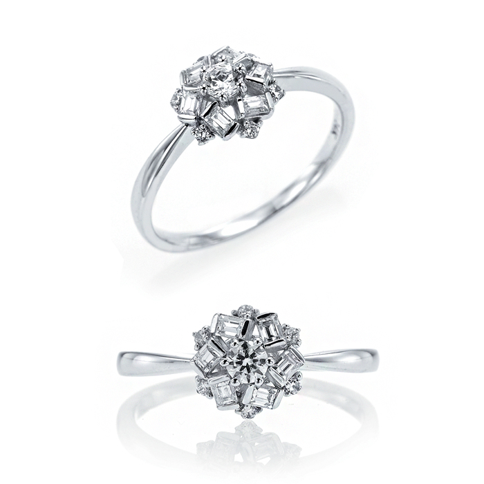 [14K Gold] 윈터 플라워 반지 Winter Flower Ring no. j3650