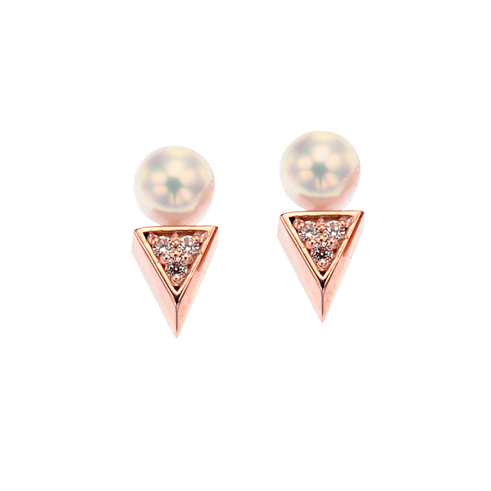 [14K Gold] 유니크 진주 귀걸이 Unique Pearl Earring no. j3831
