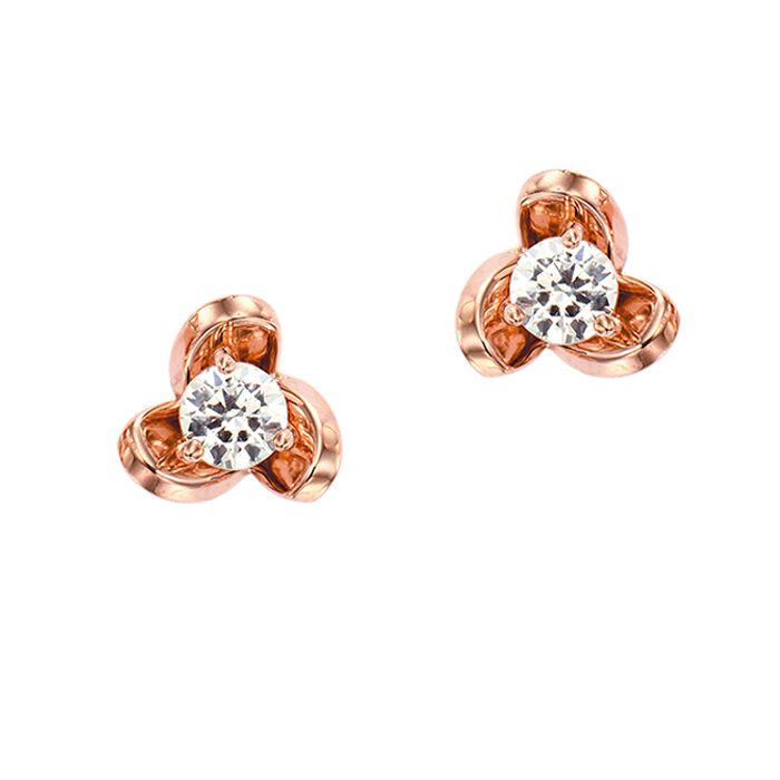 [14K Gold] 로즈 봉봉 귀걸이 Rose BongBong Earring no.j3345