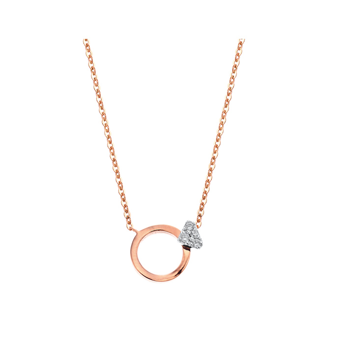 [14K Gold] 다이아 뮤즈 목걸이 Dia Muse Necklace no.j3629