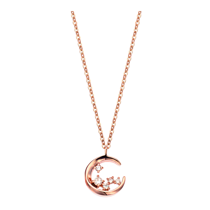 [14K Gold] 문 리버 목걸이 Moon River Necklace no.j3705