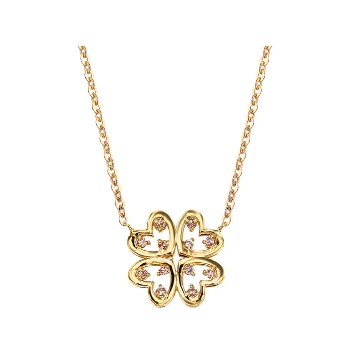 [14K Gold] 럭키 클로버 목걸이 LUCKEY CLOVER Necklace no. j3397