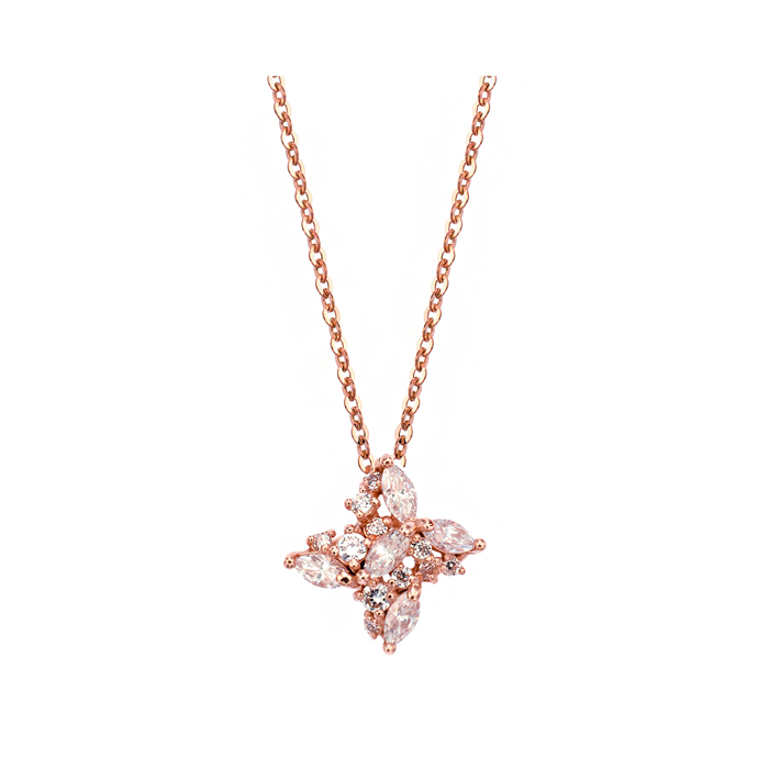 [14K Gold] 글램 플로랄 목걸이 Glam Floral Necklace no.3702