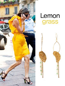 (Silver)레몬글레스 이어링 Lemongrass Earrings