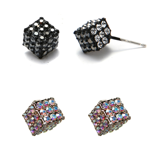 (Silver)정품스왈 아이스 큐브 이어링 Ice cube earrings