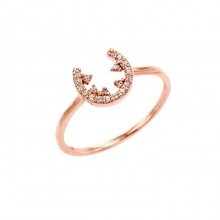 [14K Gold]문 나이트 반지Moon night ring j3644