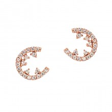 [14K Gold]문 나이트 귀걸이Moon night Earring j3644