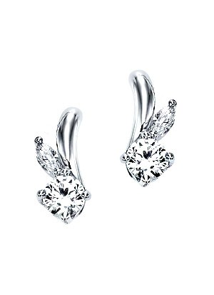 [14K Gold]리프 트윙클 귀걸이Leaf twinkle earrings j3246