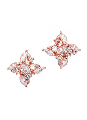 [14K Gold] 글램 플로랄 귀걸이 Glam Floral Earring no.j3702