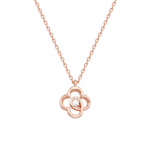 [14K/18K Gold]킨크 클로버 목걸이 Kink Clover Necklace j7842