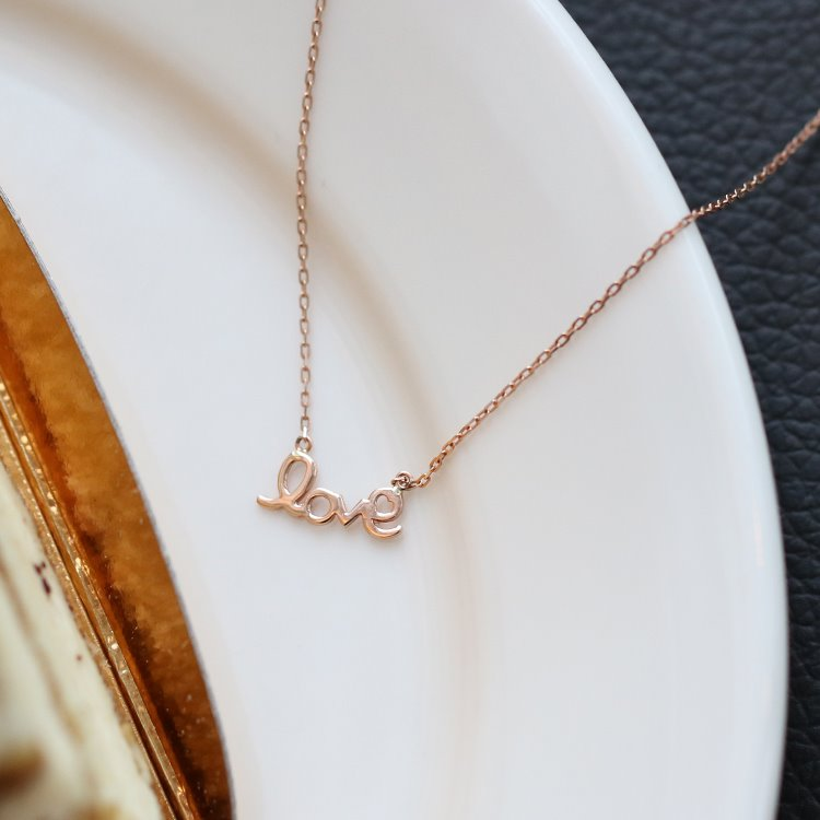 14K 러브 레터링 목걸이 14K Love Lettering Necklace