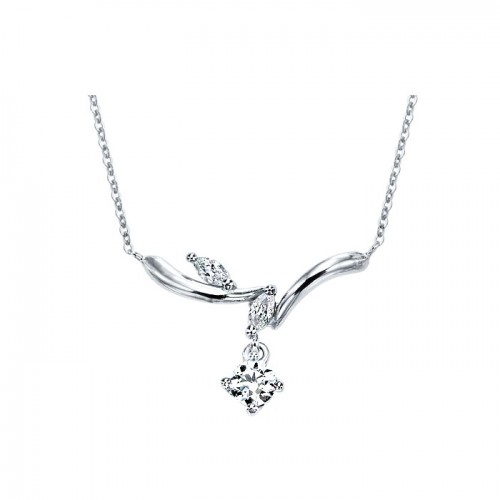 [14K Gold]리프 트윙클 목걸이Leaf twinkle necklace j3246