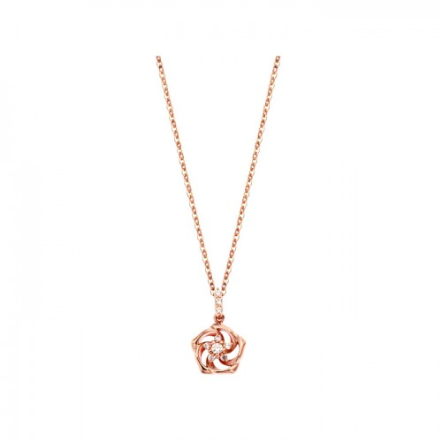 [14K Gold]산샤 플라워 목걸이Sansha flower Necklace j3809