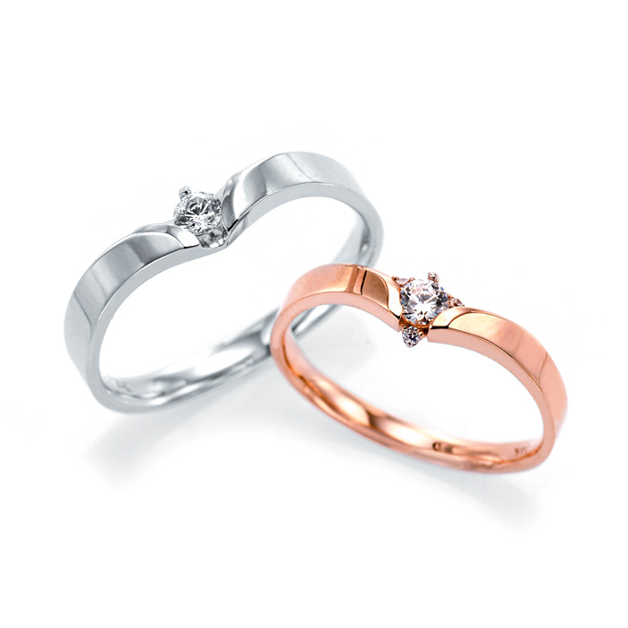 [14K Gold] 레나 스톤 커플링 Rena Stone Couple Ring no.j3641